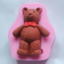 3D Silicone Tie Bear Lovely Cartoon Animals Fondant Cake Molds Chocolate Mould