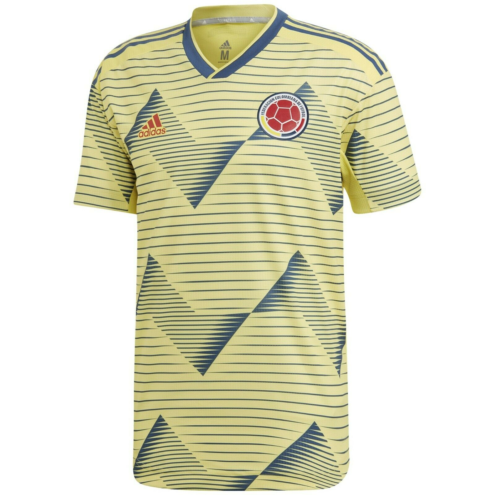 adidas Colombia Home Authentic Yellow Soccer Jersey Size 2xl XXL ...