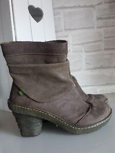 detailed look 6a1e2 17158 Details zu EL NATURALISTA Damen Boots Stiefeletten Braun Echtleder Absatz  Gr. 38 TOP