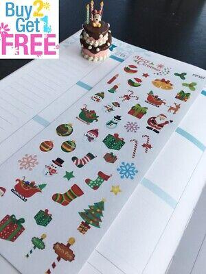 Christmas Planning S394 Planner Stickers Erin Condren Bake Cookies Wrap Gift