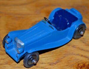Dinky Toys n ° 38f Jaguar à deux places;   Carrosserie et intérieur bleus, châssis noir