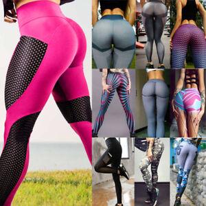 Womens Ladies Running Yoga Pants Fitness Leggings Gym Exercise Sports Trouser US
