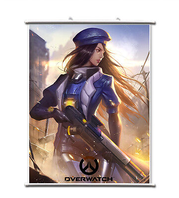 31.5/'/') Games Overwatch OW Ashe Wall Scroll Poster free shipping(23.6/'/'