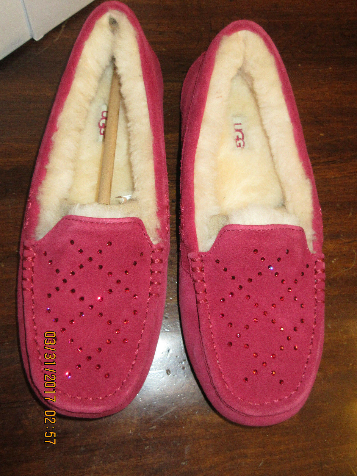 Ugg Australia Ansley Kristall Diamond Oxblood Pink Red Größe 5 1012885HBX