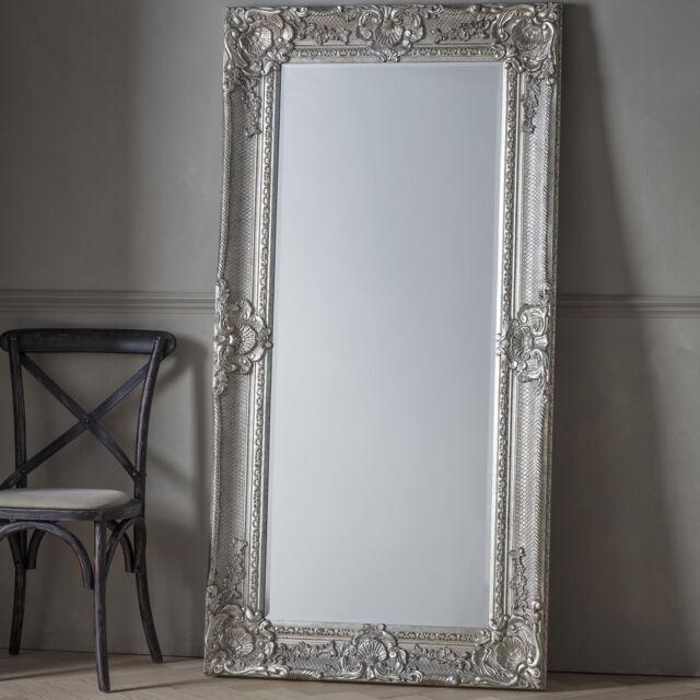 Phenomenal Eldrick Large Silver Shabby Chic Full Length Wall Leaner Floor Mirror 176 5X90Cm Download Free Architecture Designs Scobabritishbridgeorg