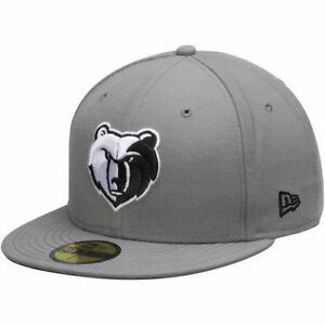 New Era Memphis Grizzlies 59Fifty NBA Gray Fitted Hat Size 7 1 8 ... 2bb8d68f177