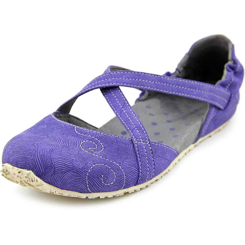NEW Ahnu Good Karma SHOES Strappy Flats 5.5 36.5 Purple Vegan Leather  95 Retail