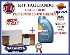 KIT 3 TAGLIANDO FIAT PUNTO MULTIJET 1.3 FILTRI + OLIO + OMAGGIO