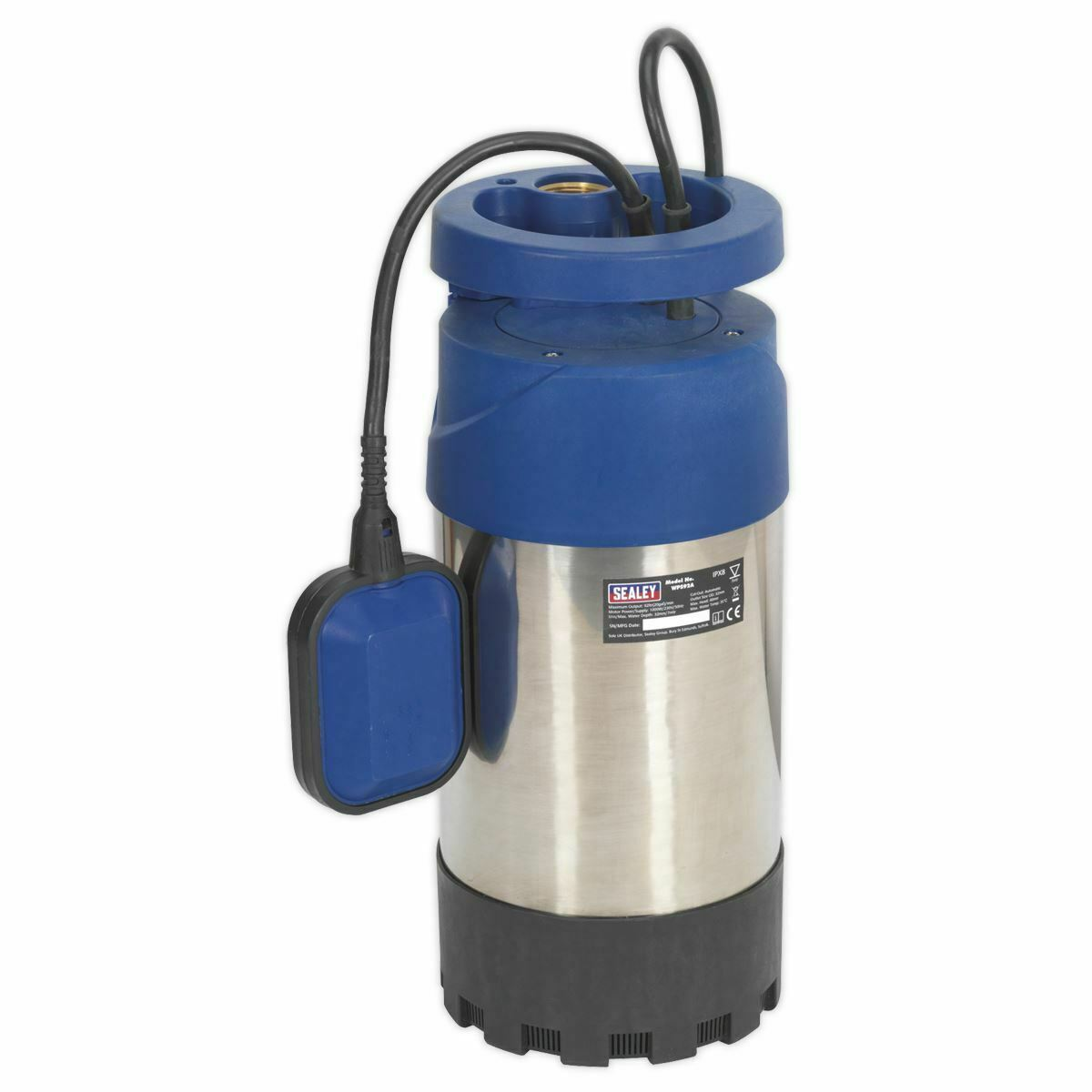 Sealey WPS92A Submersible Stainless Water Pump Automatic 92ltr/min 40mtr Head 23