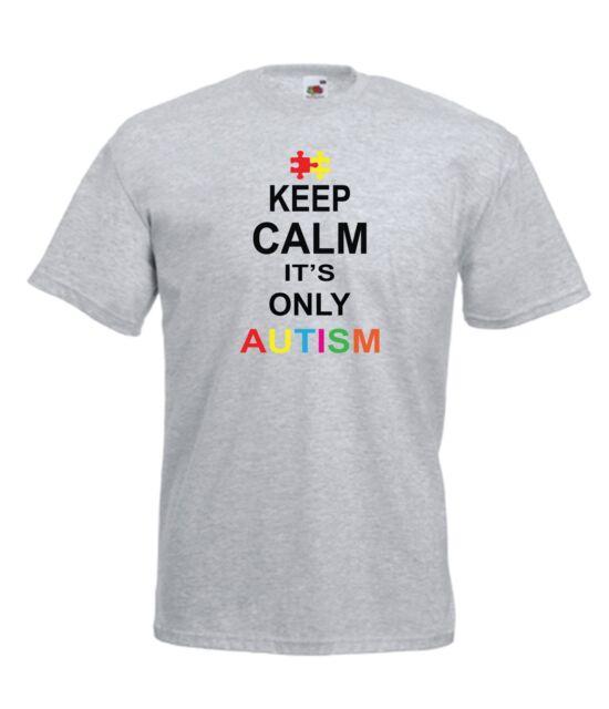 KEEP CALM ITS AUTISM autistic xmas birthday present gift idea Boys Girls T SHIRT