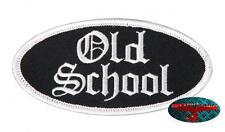OLDSCHOOL Patch Aufnäher Aufbügler Biker 1% Rocker Harley Oldskool Rockabilly