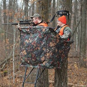NEW-Rivers-Edge-Camo-Curtain-For-Relax-2-man-Hunting-Ladder-Stand-CURTAIN-ONLY