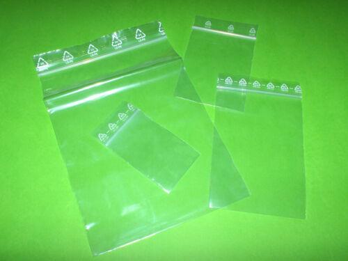 LDPE 50 Stück Druckverschlußbeutel//Zip-Tüten 40 x 60 mm 50µ
