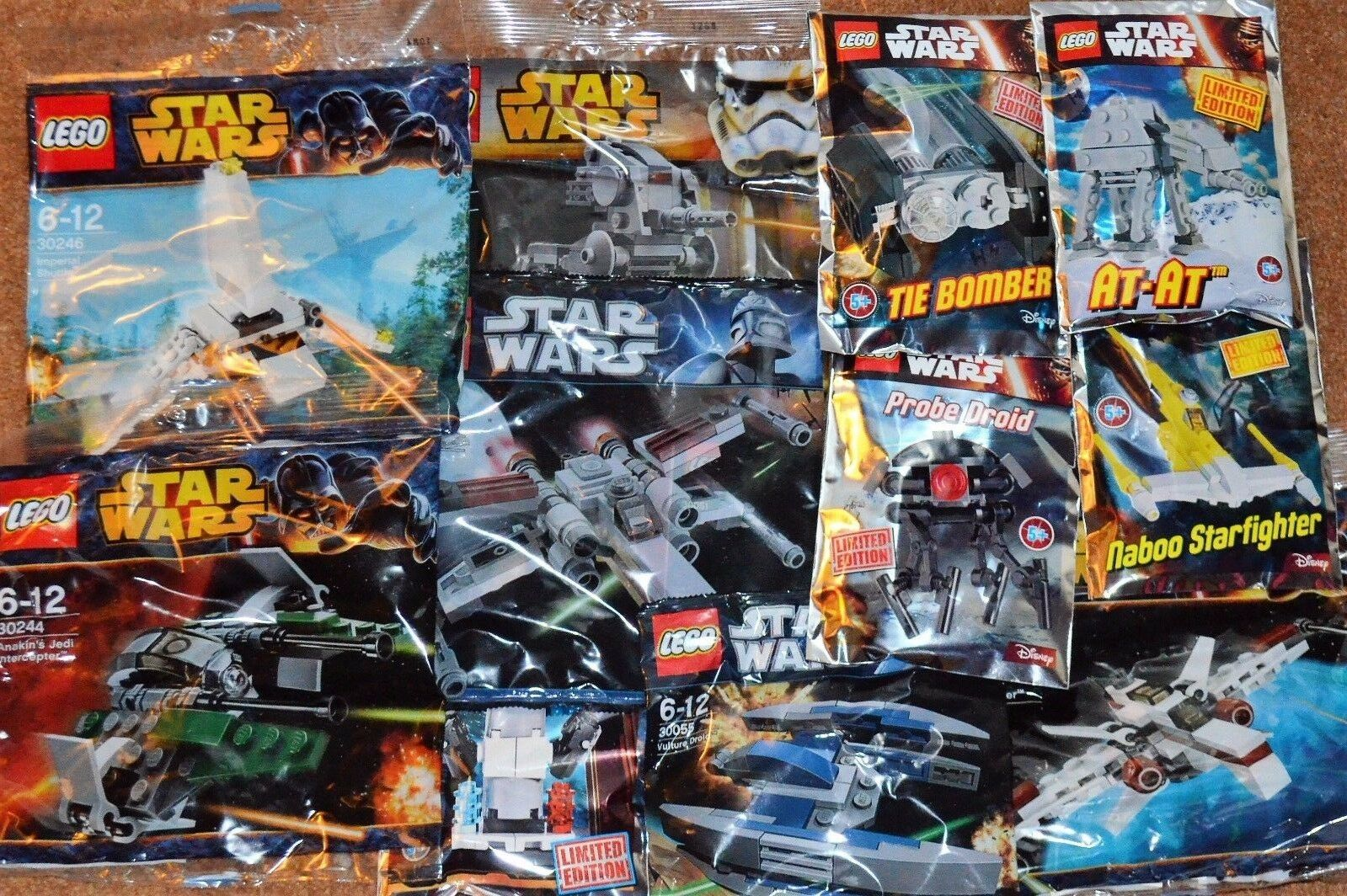LEGO STAR WARS job lot 11 Different KITS NEW sealed