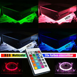 RGB-LED-USB-Design-Radiatore-Ventola-Fan-Supporto-XBOX-ONE-S-X-o-360-ACCESSORI-Live