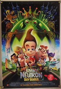 jimmy neutron boy genius ds rolled orig 1sh movie poster