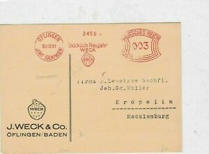 german 1931 fruit machine  slogan cancel stamps cover Ref 9750