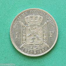 1880 Belgium Leopold I Leopold II Silver 1 Franc SNo33598