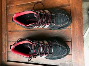 Details about Men's adidas GORE TEX ClimaProof Hiking Shoes Black & Redwith silver stripes