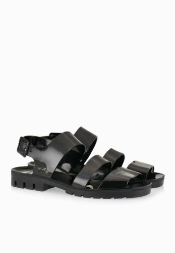 JUJU DAISY JELLY SHOES SANDALS BLACK NWT WOMEN/'S Made in England ALL SIZES