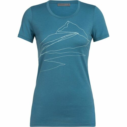 Icebreaker Damen Tech Lite Sunrise Summit T-Shirt Merinoshirt NEU