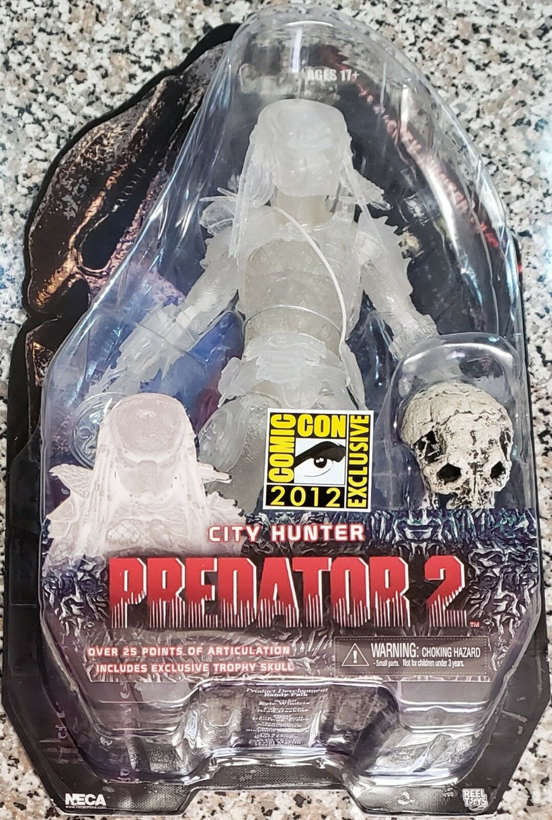 NECA ProtATOR 2, CITY HUNTER CLOAKED, SDCC 2012 EXCLUSIVE (NEW & RARE)
