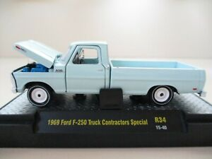 M2 Machines by M2 Collectible Auto-Trucks 1969 Ford F250 Truck 1:64 Scale R32 15-01 Creamy Mint Some Shelf Wear is at Its Normal Condition Due to Rarity