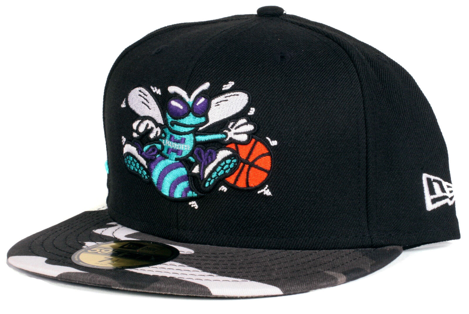 Charlotte Hat Hornets Camo 59Fifty New Era Fitted NBA Basketball Hat Charlotte - Size 7 1/4 55d887