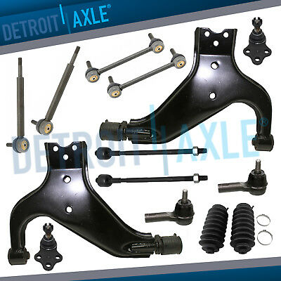 Front Lower Control Arms Ball Joint Sway Bars for 1996 1997-2004 Pathfinder QX4