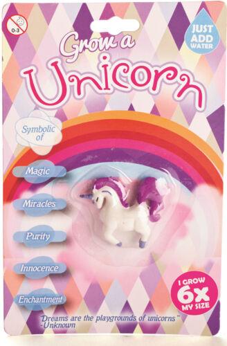 Hacer crecer su propio Unicornio Nuevo Para Niños Regalo añadir Agua Re Utilizables Juguete Magia