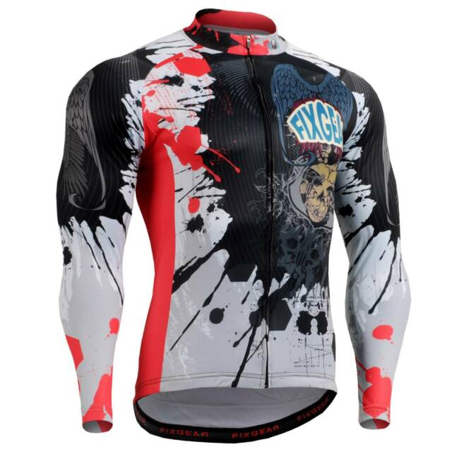 FIXGEAR CS-4401 Men's Long Sleeve Cycling Jersey Bicycle Apparel Roadbike MTB