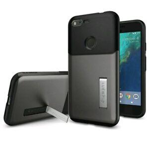 Google-Pixel-XL-Spigen-Slim-Armor-Kickstand-and-Air-Cushion-Technology-NEW