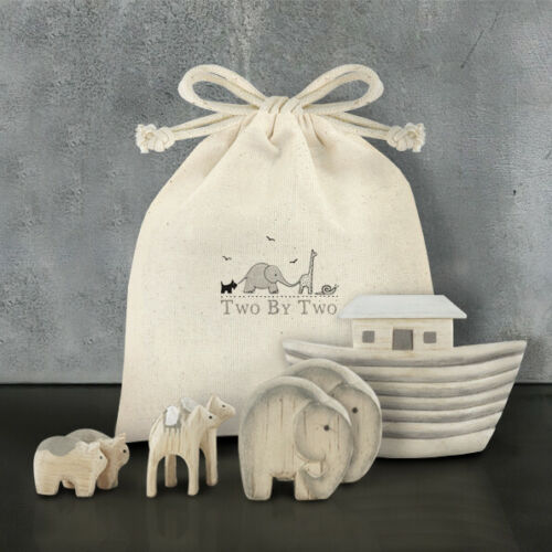 East of India Bagged Handmade Noah/'s Ark Set Christening Gift New Baby Keepsake