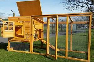 8FT CHICKEN COOP RUN HEN HOUSE POULTRY ARK HOME NEST BOX COUP COOPS 4000WX