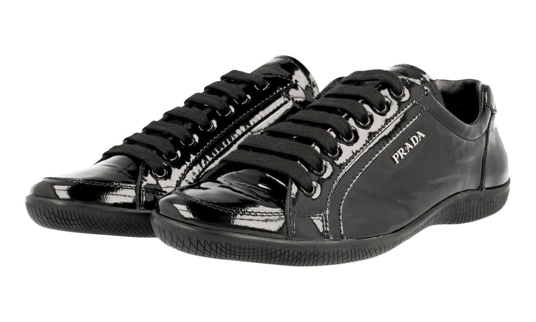 shoes PRADA LUSSO 3E5620 black NUOVE 38 38,5