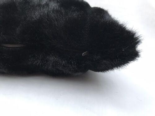 """51x30 12/"""" X 20/"""" Ourses noires en fourrure synthétique housses de coussin fait main zippées-les deux côtés"""