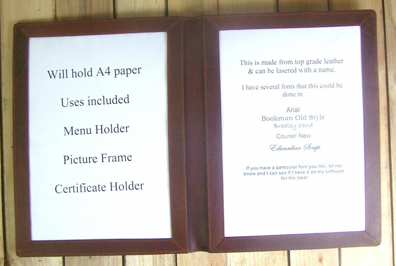 Leder Leder Leder A4 Zertifikats Inhaber Diplom bilderrahmen Kann Personalisiert Werden 3b302e