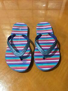 Girls-Kids-The-Gap-Comfortable-Pink-Sandals-Flip-Flops-Shoes-Size-12-13