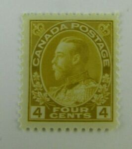 1922-Canada-SC-110-KING-GEORGE-V-4-cent-MH-F-VF-stamp