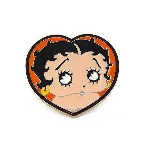 Betty Boop Cartoon Heart Love Enamel Metal Fashion Men Women Belt Buckle