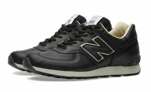 Details zu Men's New Balance 576 CKK UK Size 11.5 Black Leather Trainers Made in England
