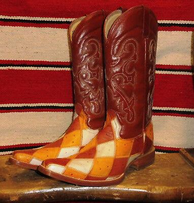 Stivali stivale texani country western cowboy uomo patchwork