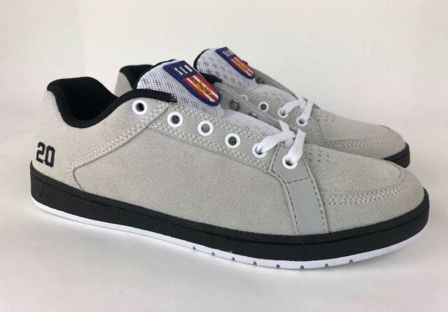 71f340373d eS SAL 20 Skate Shoes White / Black Skateboard Shoes Mens US Size 7.5 RARE!
