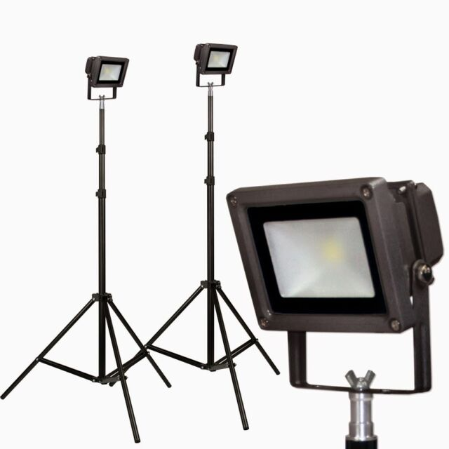 PBL LED 2 Light Photo Video Kit 5600k Daylight Hi-Output 50,000 Hour Bulb