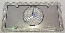 Mercedes Mirror Vanity Front license plate & frame Made with Swarovski Crystal