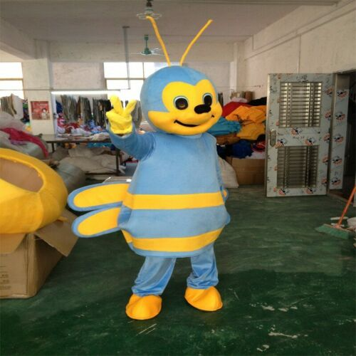5# Bee Mascot Costume Cosplay Game Dress Outfit Advertising Halloween Adult 1pc