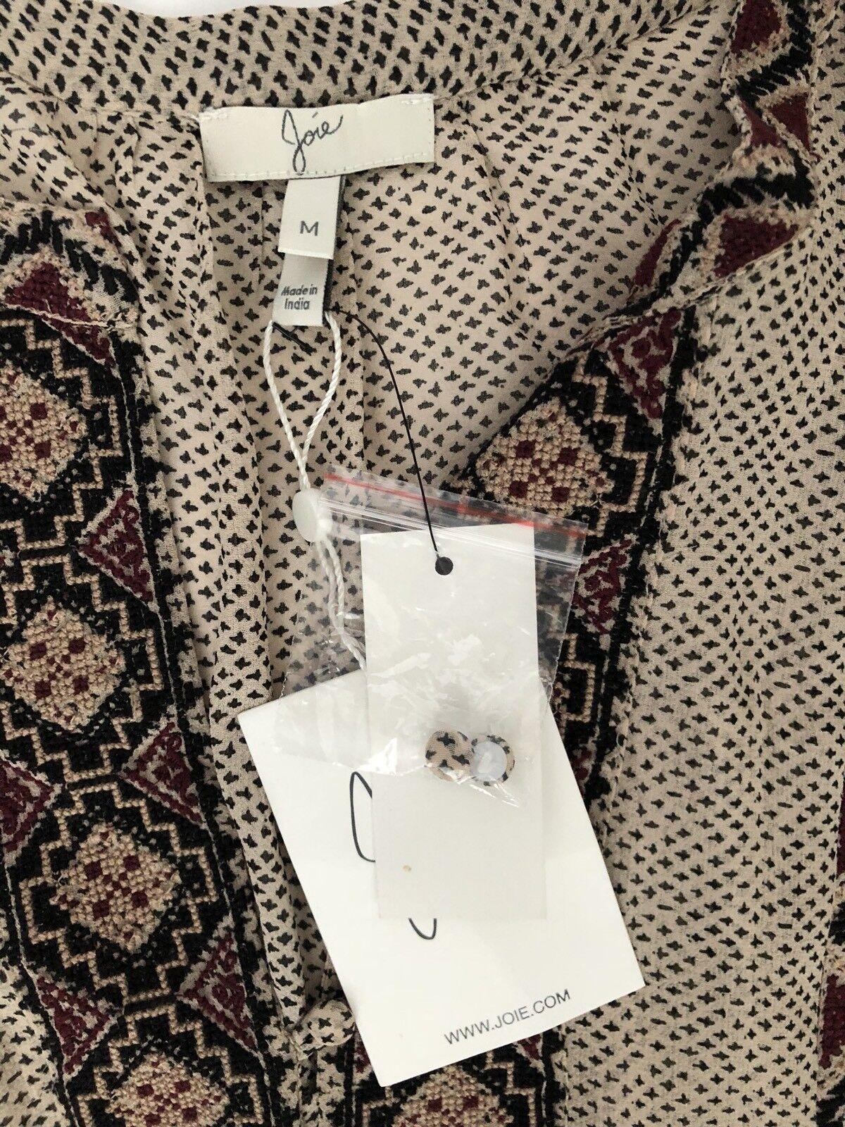 Joie Joie Joie Women Dress Size M NWT 100% Silk Cross Stich Embroidery 38c3fb