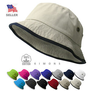 2 tone bucket hat cap cotton fishing polo style boonie for Polo fishing hat