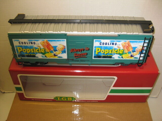 LGB Popsicle Good Humor Breyers Ice Cream Boxcar, Factory New ,G Gauge.