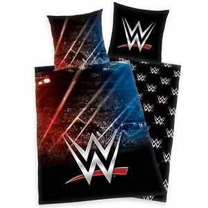 Wwe-Stade-Housse-Couette-Simple-Set-Europeen-Taille-Coton-Literie-2-IN-1